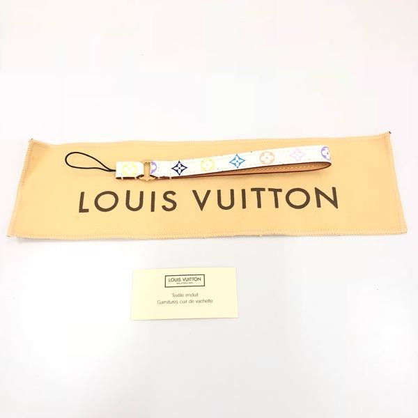 LOUIS VUITTON ルイヴィトン 携帯ストラップ モノグラムマルチカラー ブロン ドラゴンヌ・テレフォン M92597