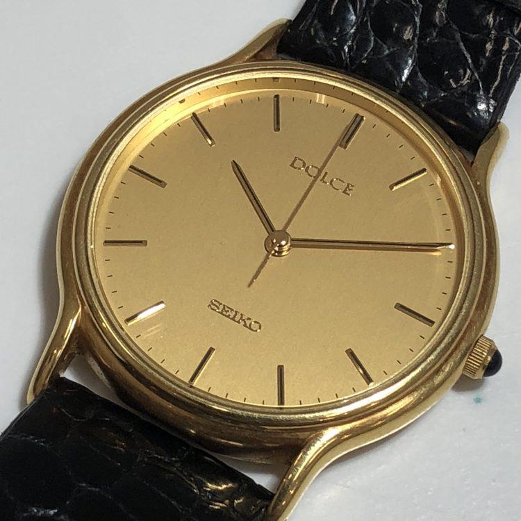 SEIKO セイコー ドルチェ 金無垢 腕時計 K18 イエローゴールド