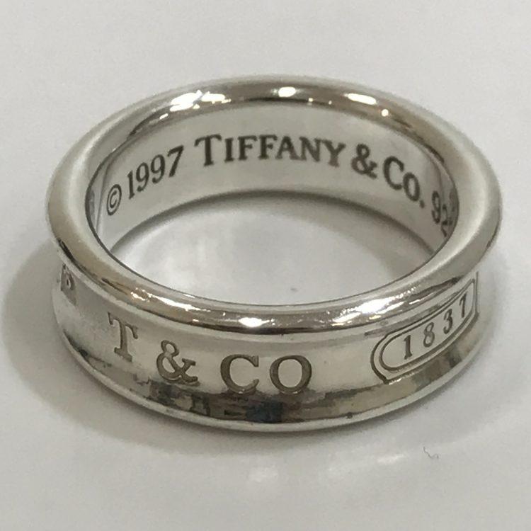 TIFFANY&Co. ティファニー シルバー  ナローリング 1837